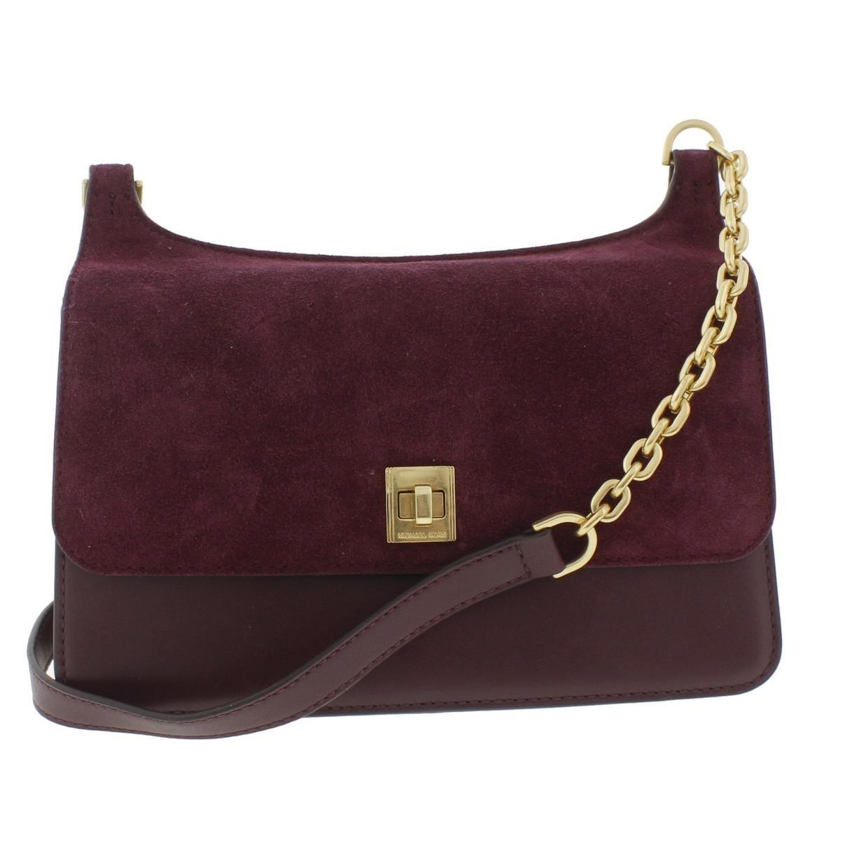 ac5e5f8cdb4 MICHAEL Michael Kors Womens Natalie Messenger Handbag Suede Crossbody -  small