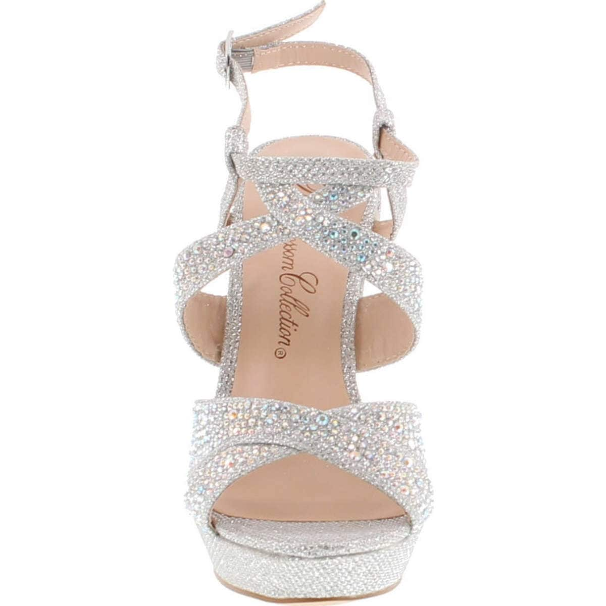 6ebf3fbd4c49 Shop De Blossom Alle-8 High Heel Wedge Sandal With Crystal Embellishment  Style Balle8 - Free Shipping On Orders Over  45 - Overstock - 14756681