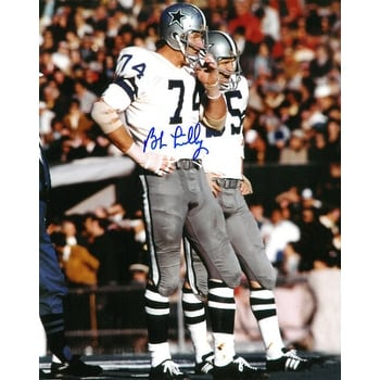 Lilly Dallas Cowboys 8x10 Bob Jersey White Photo Signed