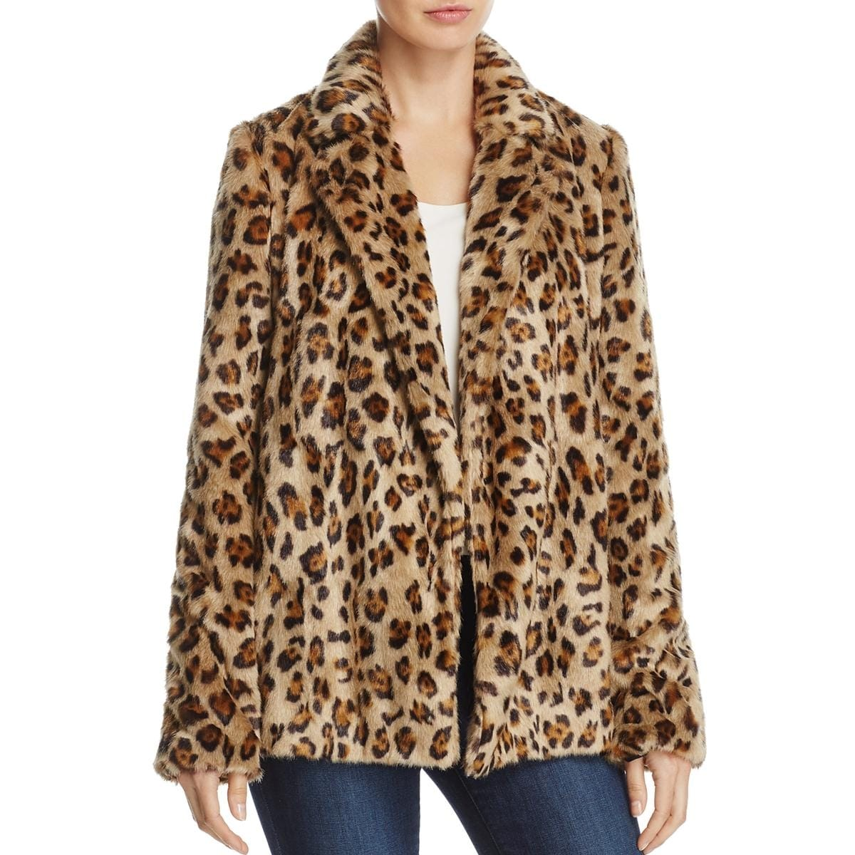 2b288f2767 Shop Theory Womens Clairene Faux Fur Coat Winter Leopard Print - Free  Shipping Today - Overstock - 24031875