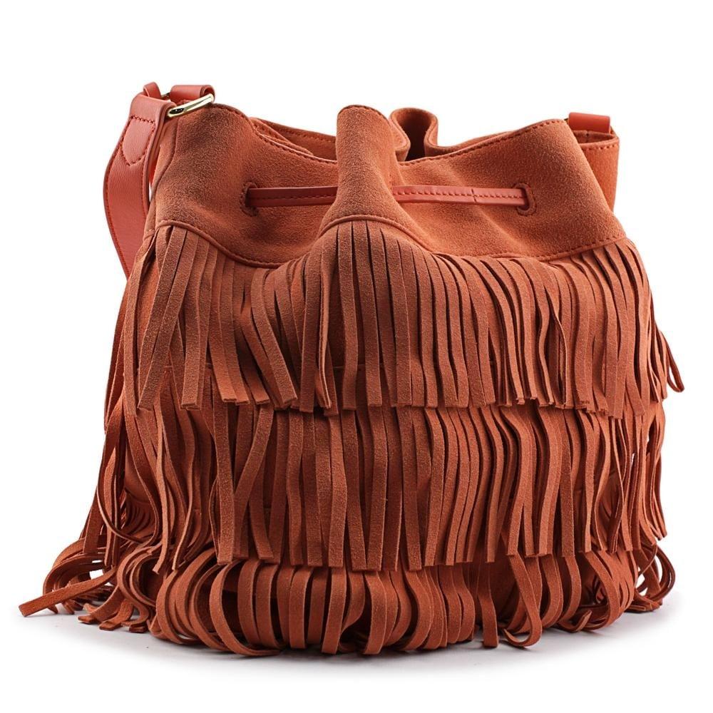 Vince Camuto Riqui Hobo Bag Women Suede Orange Free Shipping Today 16604956