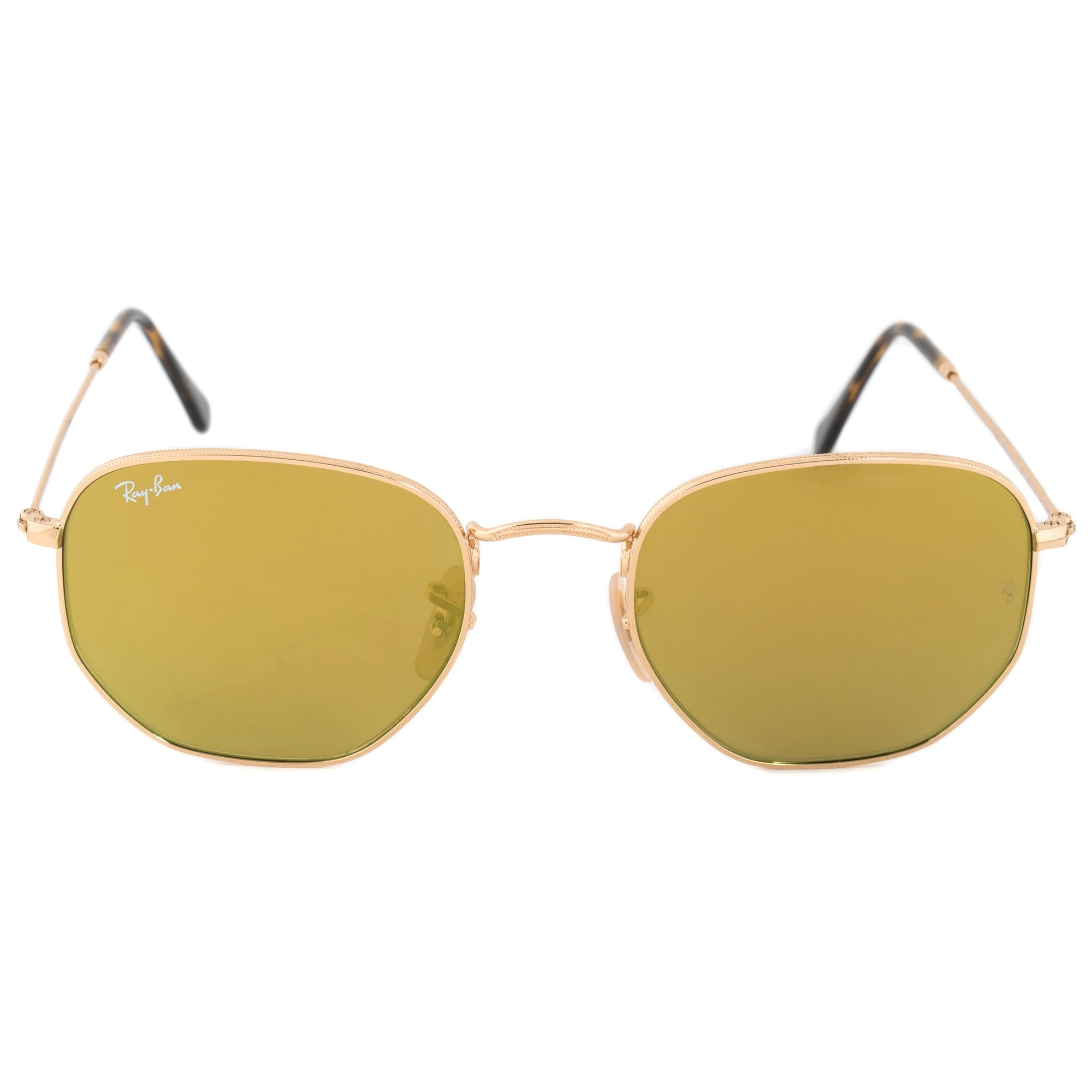 4f6fad7010361 Shop Ray-Ban Hexagonal Flat Lenses Sunglasses RB3548NF 001 93 54 ...