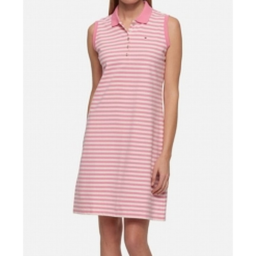 50aa2013 Shop Tommy Hilfiger NEW Light Pink Womens Size XS Striped Polo Shirt Dress  - Free Shipping On Orders Over $45 - Overstock - 21474606