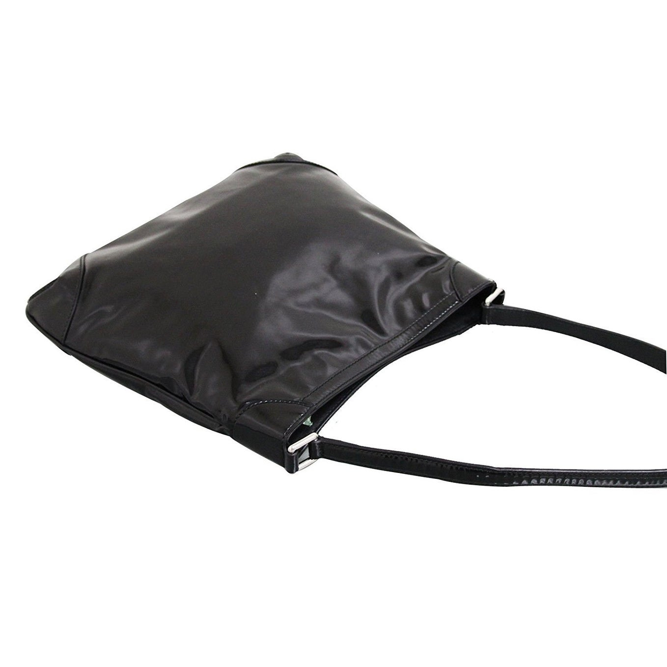 21e0bec4404 Shop Gucci Women s Black Patent Leather Hobo Capri Shoulder Bag 257296 1000  - One Size - Free Shipping Today - Overstock - 27603134