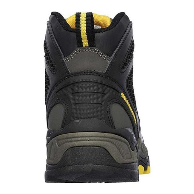 66d55aa069b Skechers Men's Work Relaxed Fit Surren Steel Toe Boot Gray