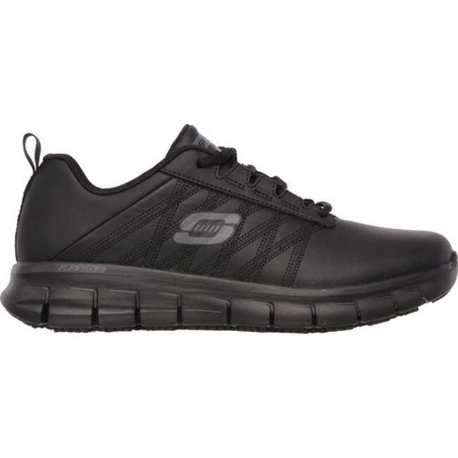 2e4bd9b0bcf8 Shop Skechers Women s Work Relaxed Fit Sure Track Erath Slip Resistant Black  - Free Shipping Today - Overstock - 10368586