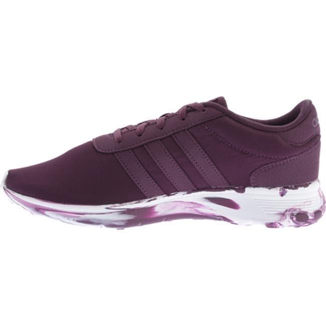 premium selection 0517c 7d714 Shop adidas Women s NEO Lite Racer Sneaker Merlot Merlot White - Free  Shipping Today - Overstock - 12490402