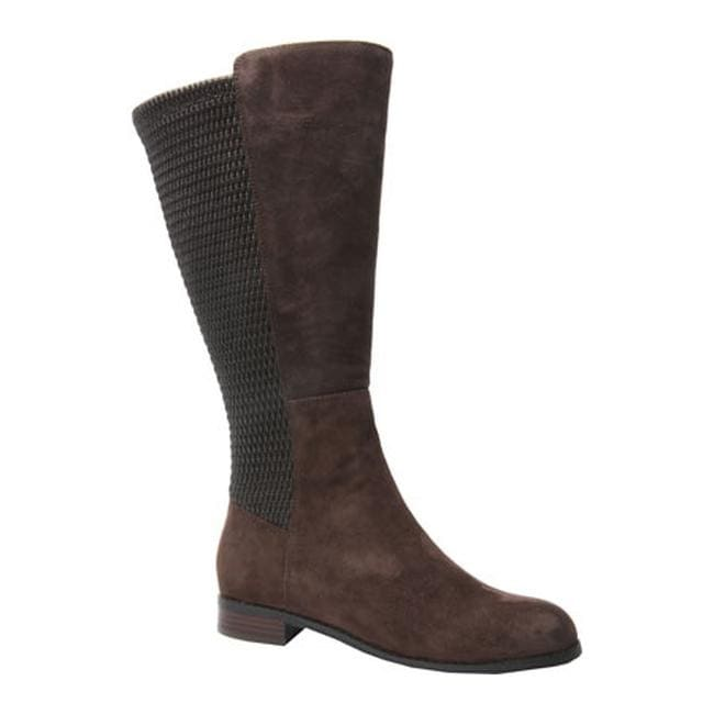 bea3079d2592 Shop Ros Hommerson Women s Bianca Tall Wide Calf Boot Brown Suede - On Sale  - Free Shipping Today - Overstock.com - 12200930