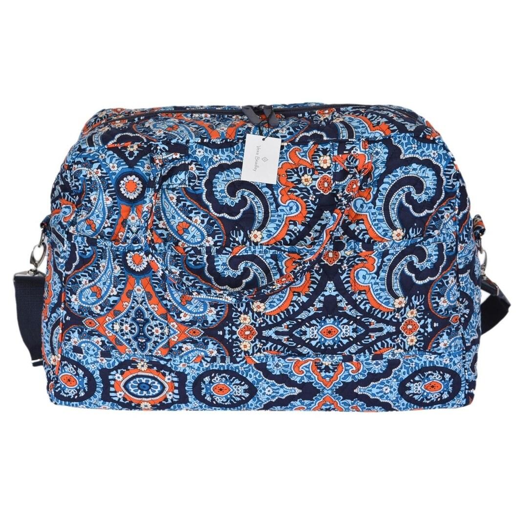 Shop Vera Bradley MARRAKESH Floral Paisley Cotton Weekender Duffle Travel  Bag - Free Shipping Today - Overstock - 21219276 e5358e97dc2b6