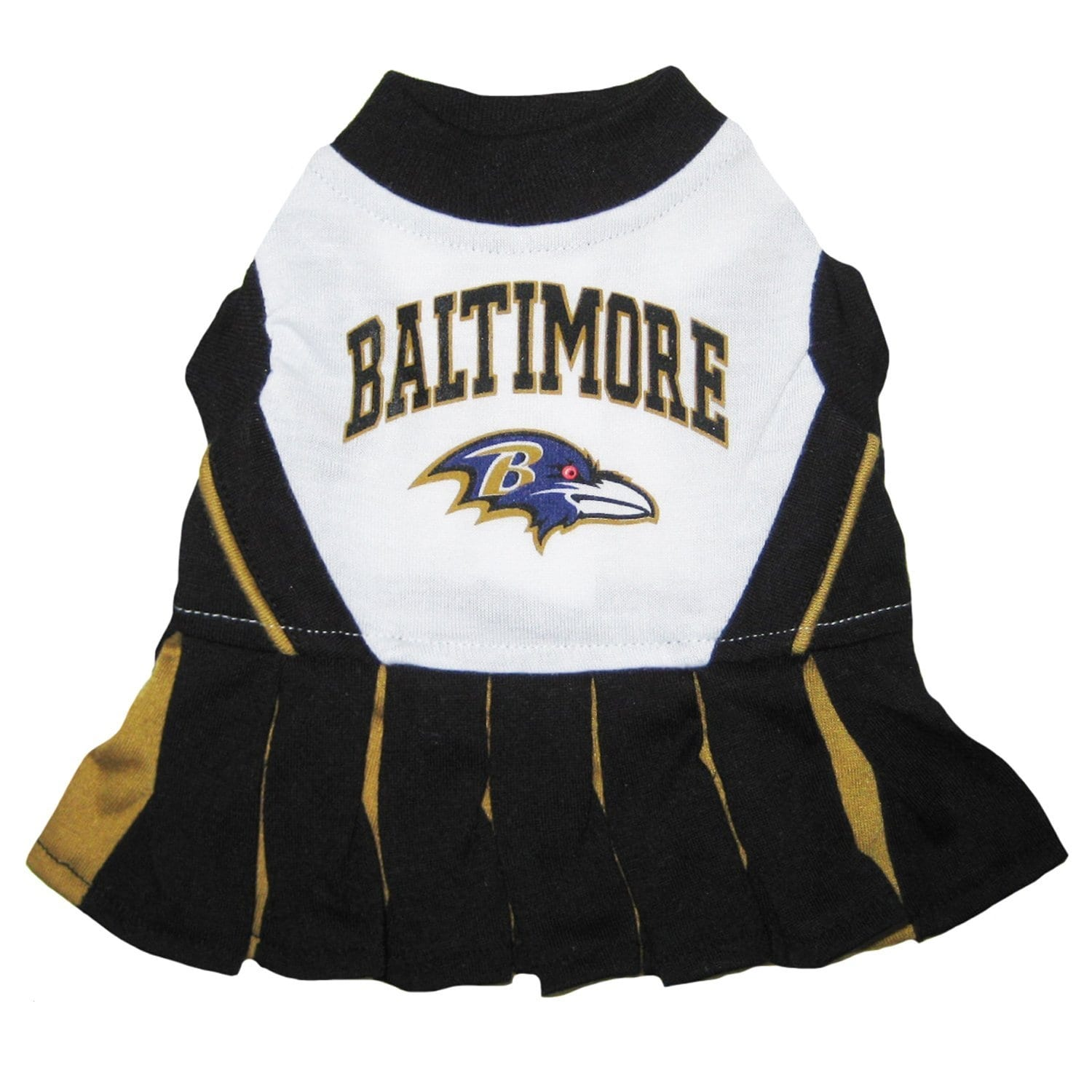 Shop NFL Baltimore Ravens Cheerleader Dress For Dogs And Cats - Free ... b6cb55a63