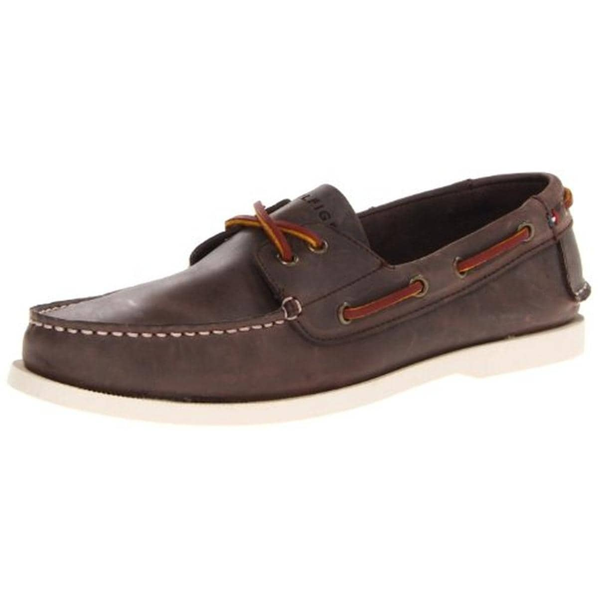 54ec7f71b Shop Tommy Hilfiger Mens Bowman Boat Shoes Leather Moc-Toe - Free Shipping  Today - Overstock - 18612735
