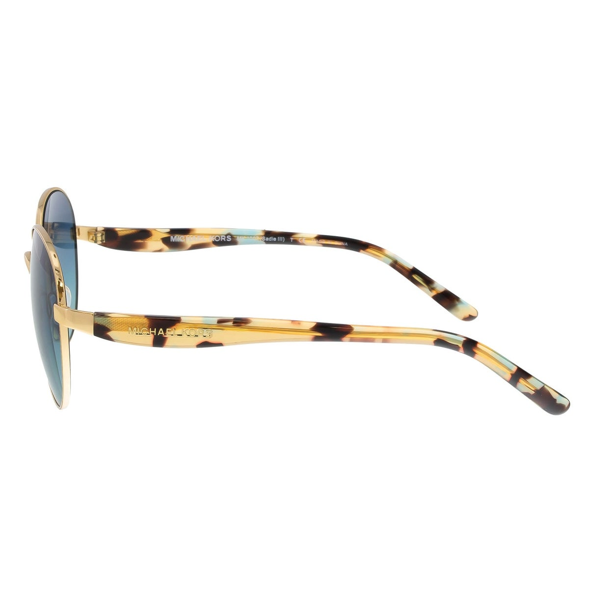 07e482d49e4af Shop Michael Kors MK1007 10934S Sadie III Gold Havana Round Sunglasses - 52- 19-135 - Free Shipping Today - Overstock - 19518834