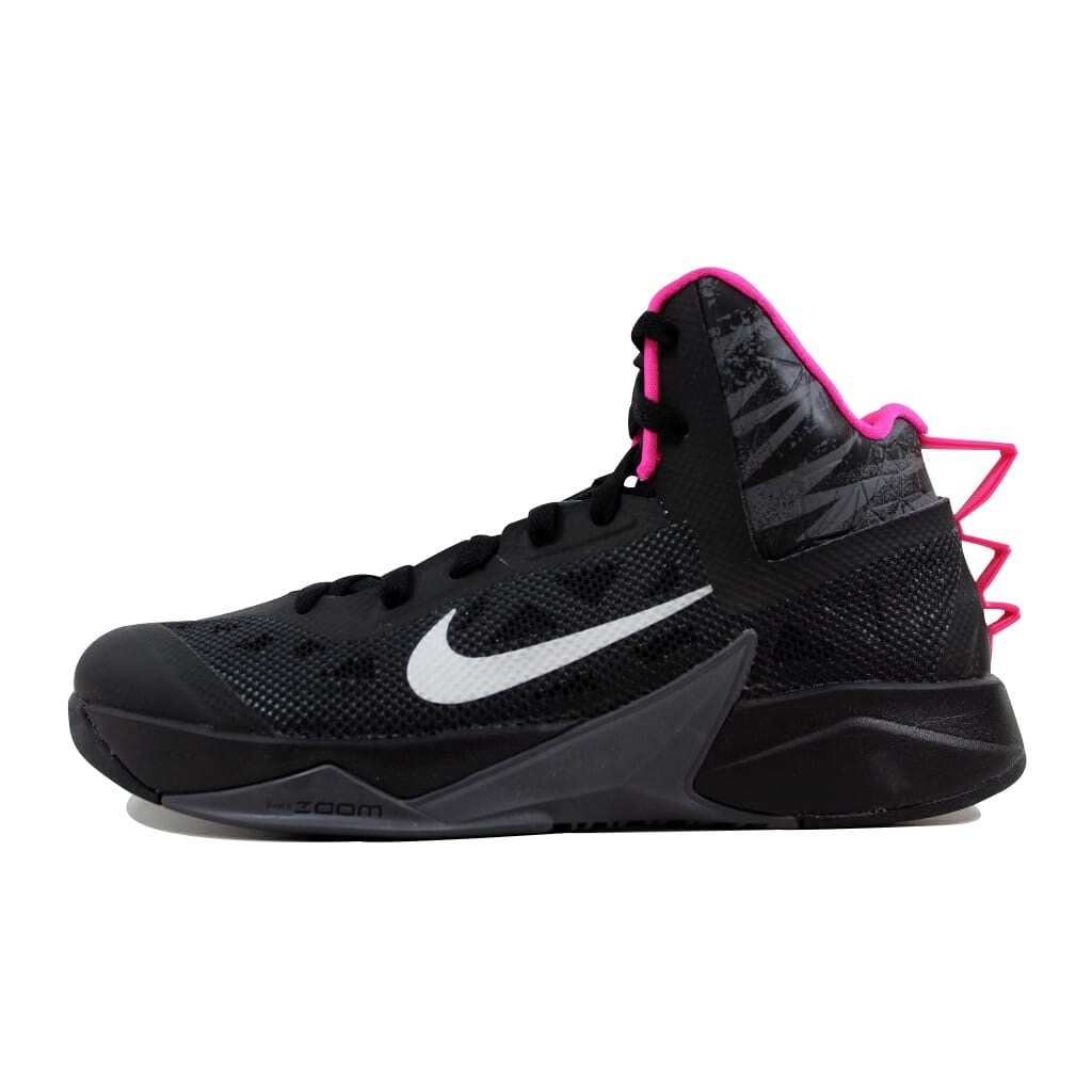 56d56269923e Shop Nike Zoom Hyperfuse 2013 Black Metallic Silver-Dark Grey-Pink  615896-002 Men s - Free Shipping Today - Overstock - 21892934
