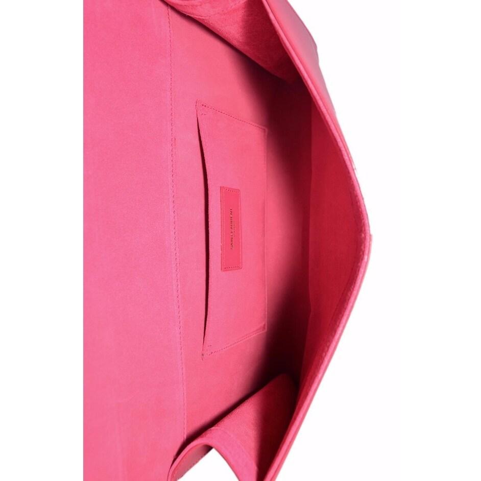 31e77148b4c Shop Saint Laurent YSL 311213 PINK Leather Ligney Y Logo Clutch Handbag -  Free Shipping Today - Overstock - 18111991
