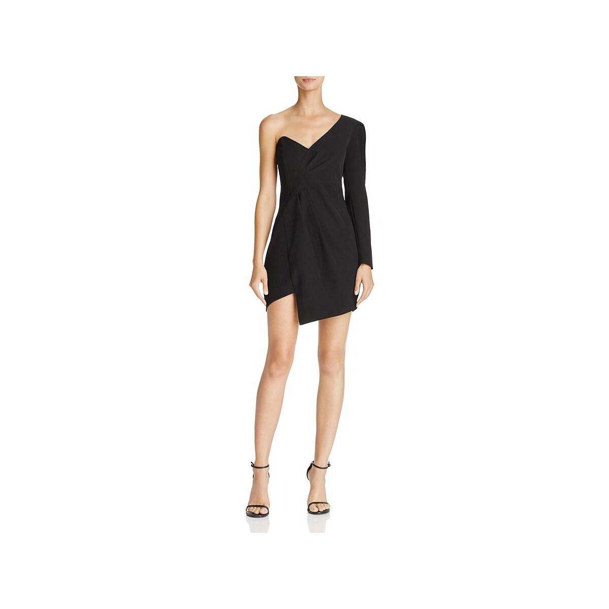 c2085b09f0 Shop Bardot Womens Anja Cocktail Dress One Shoulder Mini - Free ...