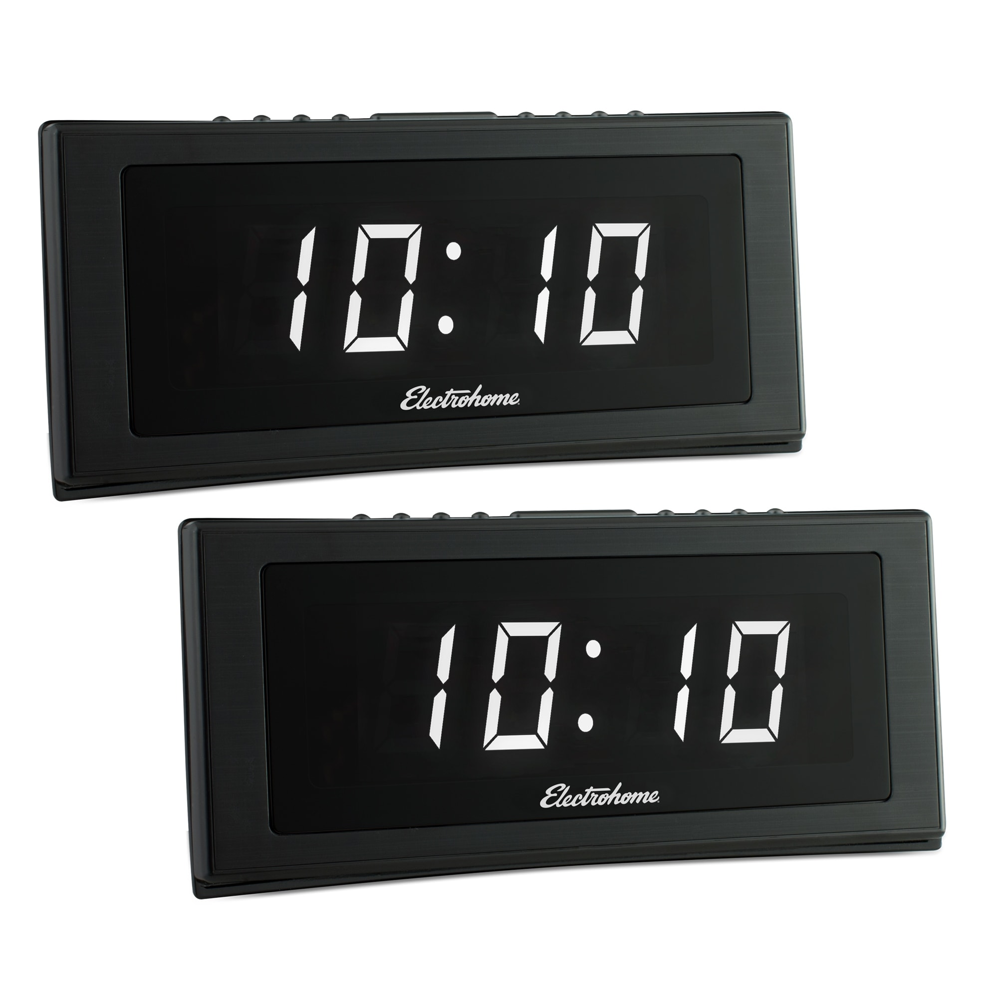 Electrohome 1 8 Jumbo Led Alarm Clock Radio With Battery Backup Auto Time Set Digital Am Fm Tuner 2 Pack Free Shipping On Orders Over 45