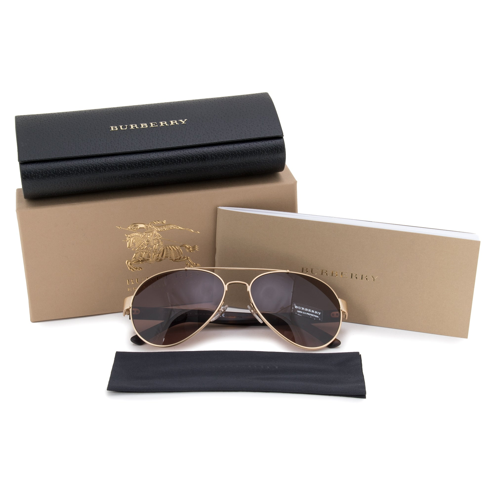 d1b43aac6860 Shop Burberry Aviator Sunglasses BE3086 10525W 59 - Free Shipping Today -  Overstock - 23138815