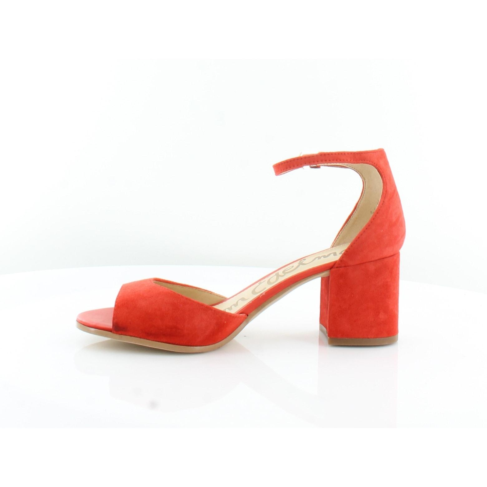 41918b8c3bcb Shop Sam Edelman Susie Women s Heels Blood Orng - 10 - Free Shipping Today  - Overstock - 21551689