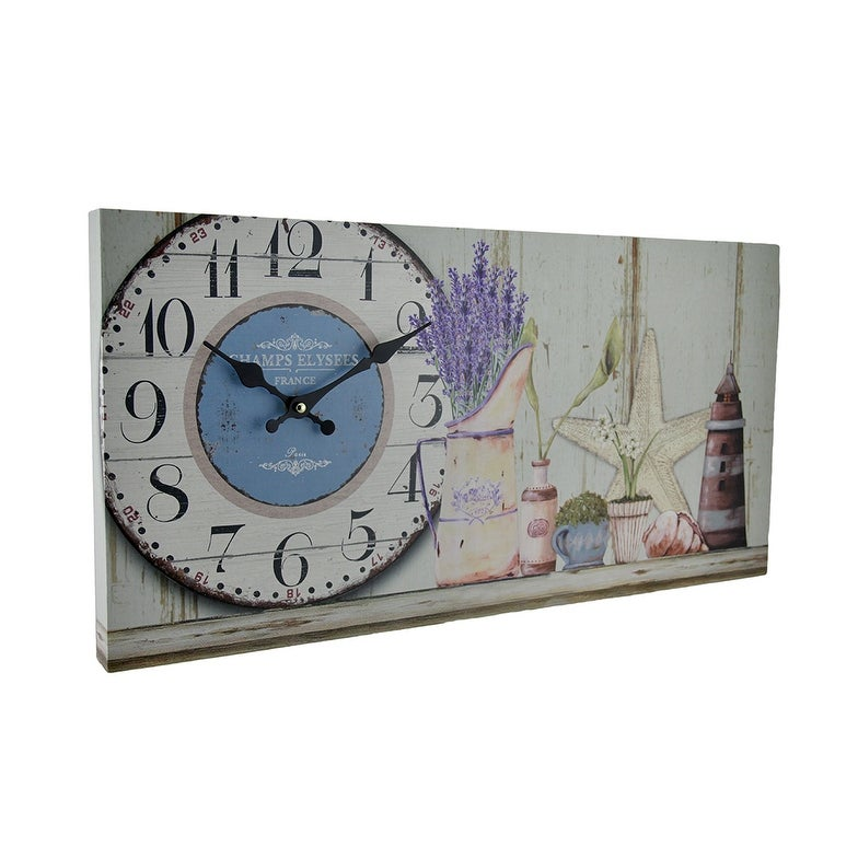Shop Beach Themed Decorative Wood Wall Clock Free Shipping On