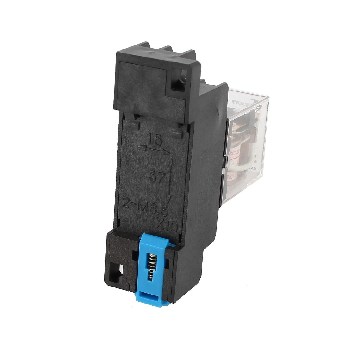 Shop Ac 12v Coil 8p 35mm Din Rail Electromagnetic Relay Power Cost Of W Socket Free Shipping On Orders Over 45 18260144