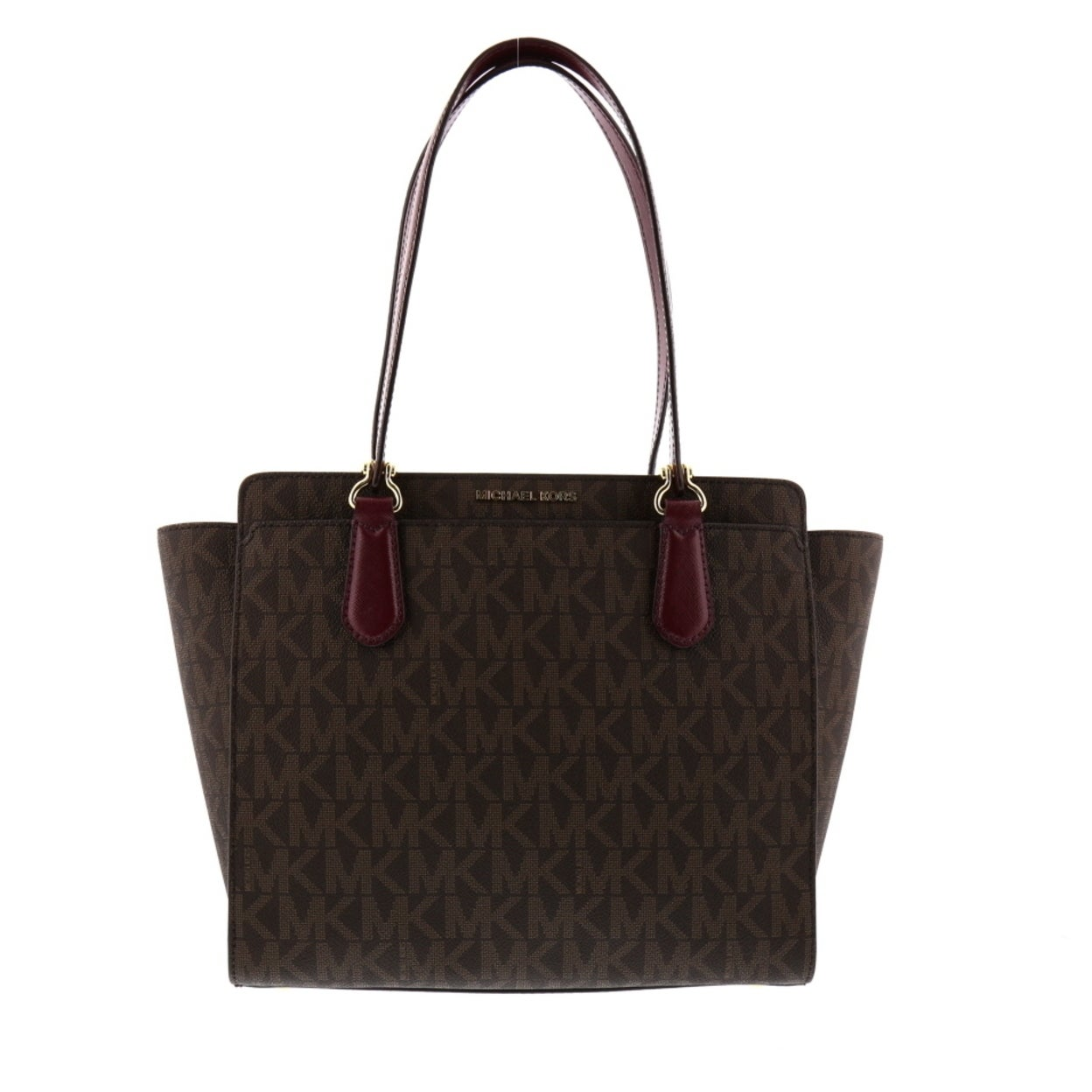 83616c662a1be5 Shop MICHAEL Michael Kors Dee Dee Signature Medium Tote - Free Shipping  Today - Overstock - 23488765