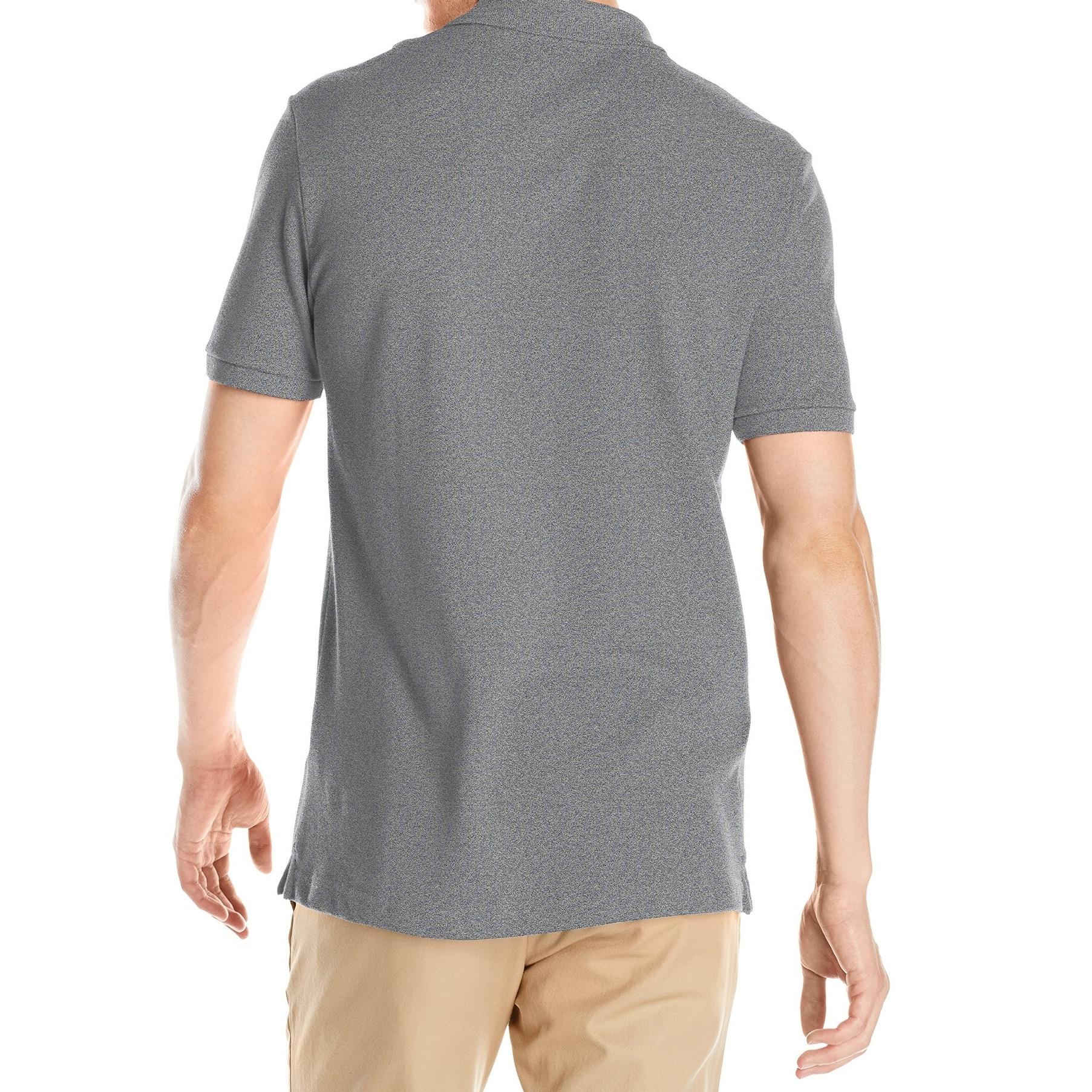 c42b3d897d Lacoste NEW Gray Mens Size Medium M Slim-Fit Short-Sleeve Polo Shirt