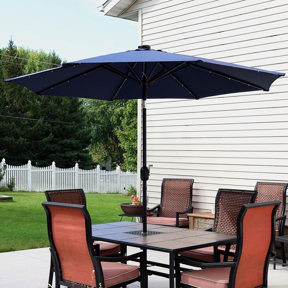 Sunnydaze Aluminum 9 Foot Solar Patio Umbrella With Tilt Crank Free Shipping Today 15362156