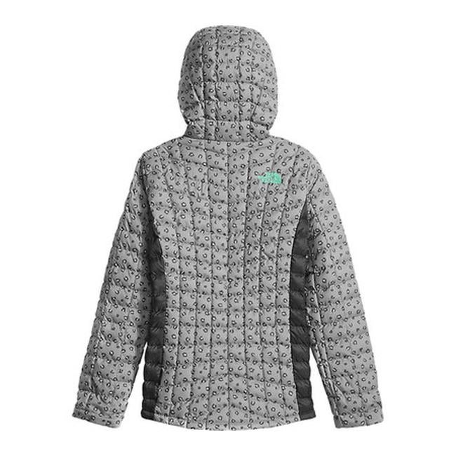 b55a8fe4e The North Face Girls' ThermoBall Hoodie Metallic Silver Leopard Print