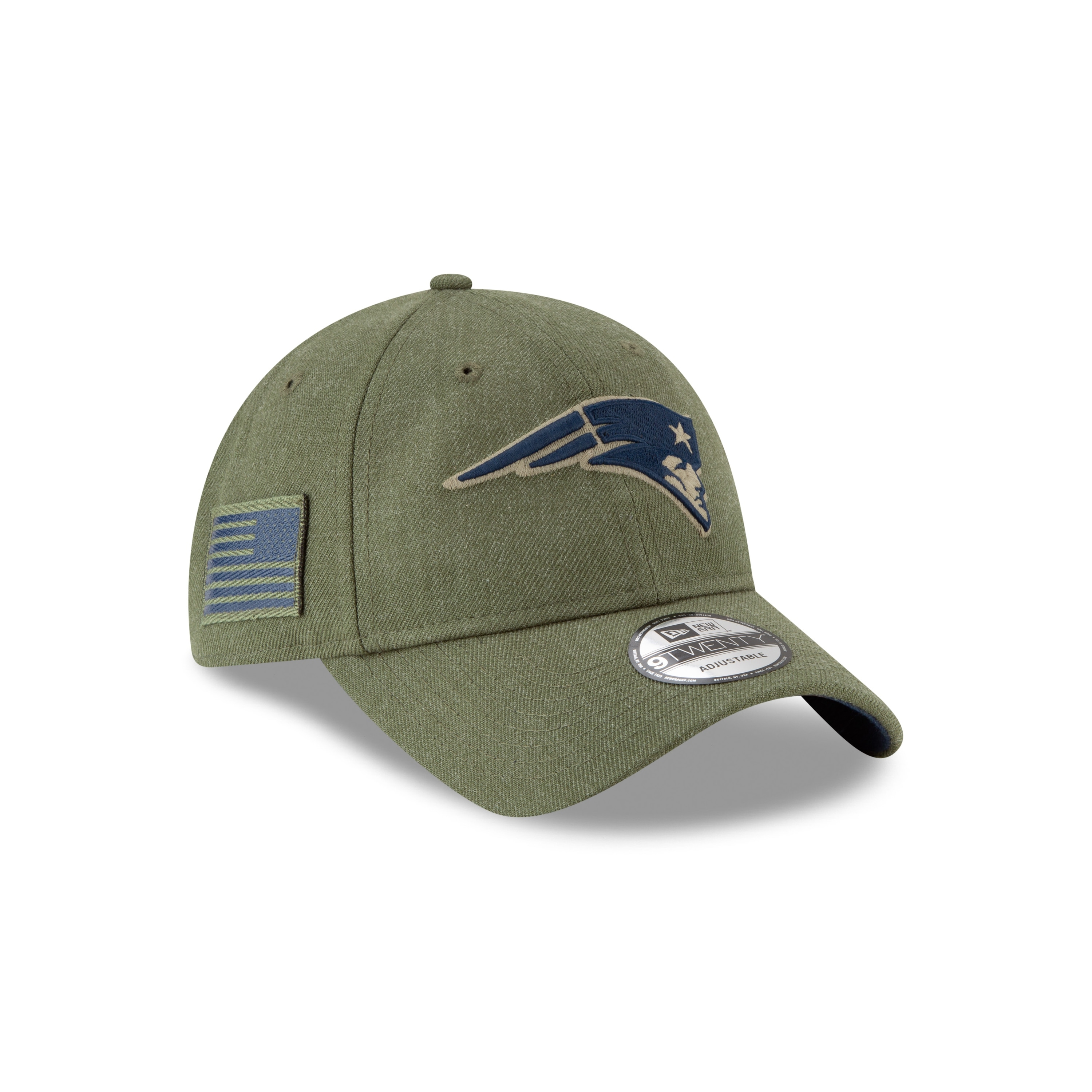 premium selection 29275 9c01b New England Patriots 9TWENTY 2018 On Field Salute to Service Adjustable Hat