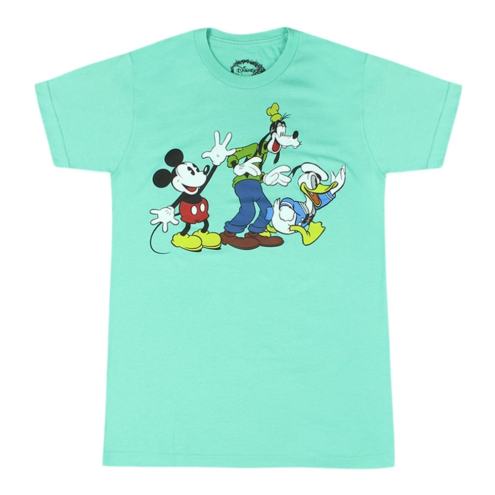 Disney Classic Mickey Mouse With Goofy And Donald Men\'s Green T ...