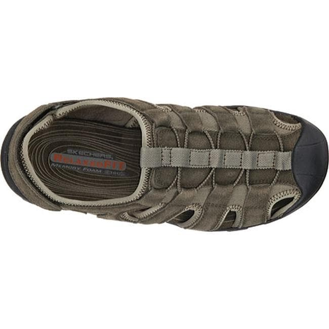 012e768a8f2d Shop Skechers Men s Relaxed Fit Conner Selmo Fisherman Sandal Olive - On  Sale - Free Shipping Today - Overstock - 11354973
