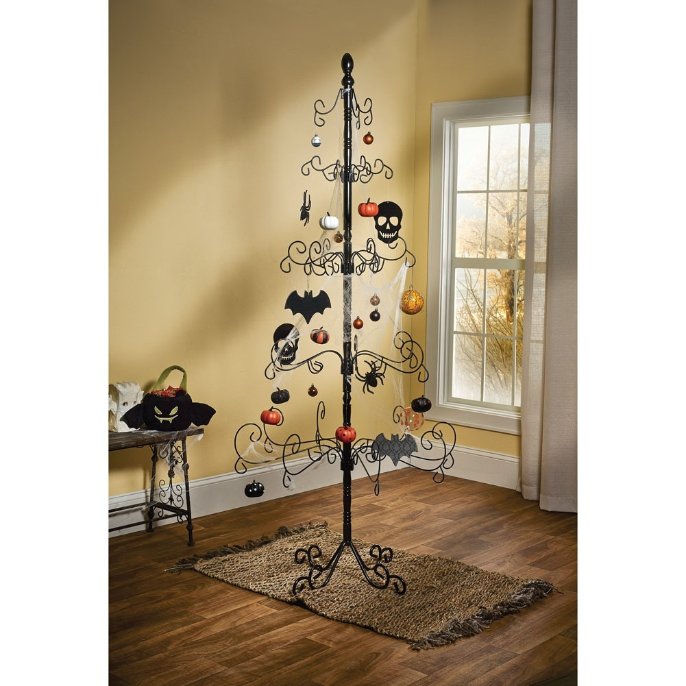 shop wrought iron christmas ornament display tree 83 35 in x 83 in free shipping today overstockcom 15031389 - Metal Christmas Tree Ornament Display