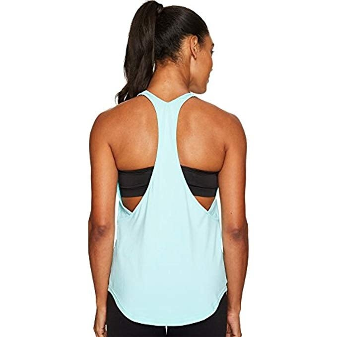 65b7a7e0255d7 Shop Under Armour Women s Studio Lux Flashy Racer Back Tank Top Blue Size  Extra Large - XL - Free Shipping On Orders Over  45 - Overstock - 23075175