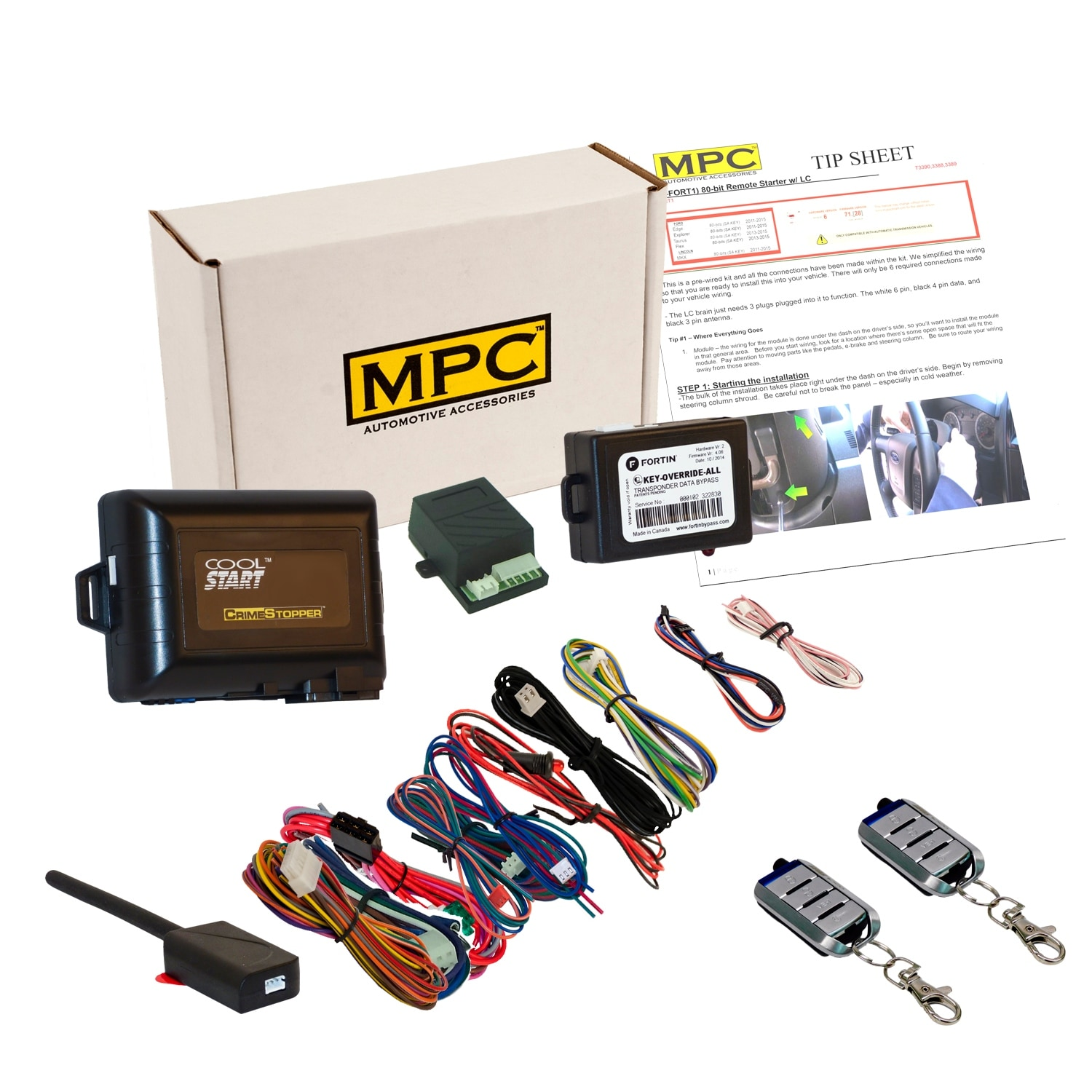 shop complete remote start kit with keyless entry for 2000-2001 ford  excursion - includes bypass and (2) 4 button remotes - free shipping today  - overstock