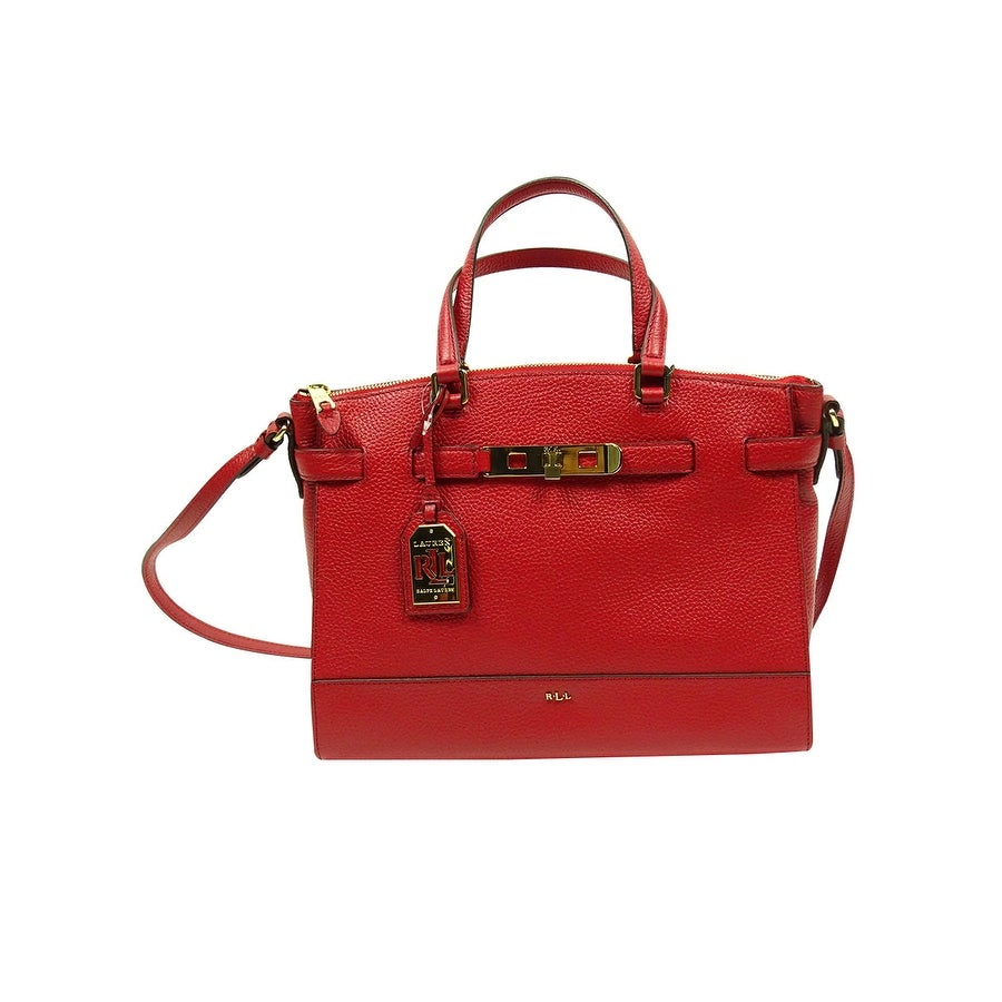 1decd741e8ae Shop Lauren By Ralph Lauren Women s Handbag Darwin Leather Satchel - bridle  brown - Free Shipping Today - Overstock.com - 19986016