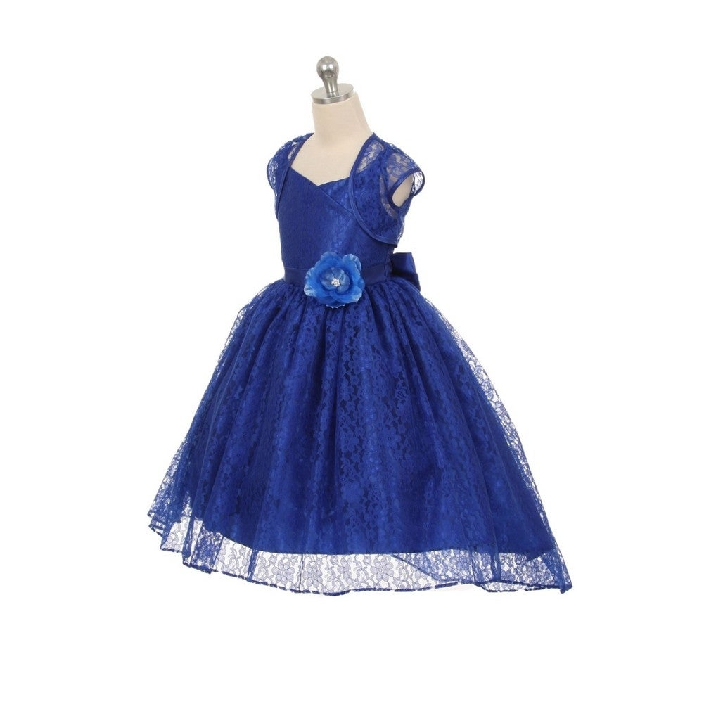 b021738fe Shop Chic Baby Little Girls Royal Blue Lace Hi-Low Special Occasion Jacket  Dress 2-6 - Free Shipping On Orders Over $45 - Overstock - 18166878