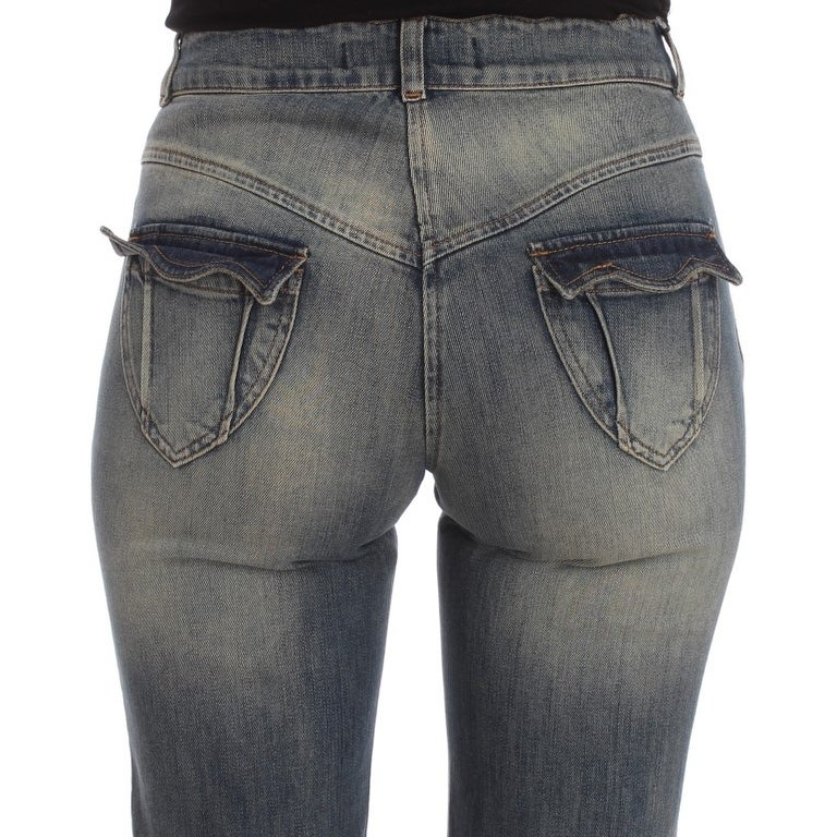 89079fc26e28e Shop Cavalli Blue Wash Cotton Blend Slim Fit Bootcut Women's Jeans - Free  Shipping Today - Overstock - 22826449