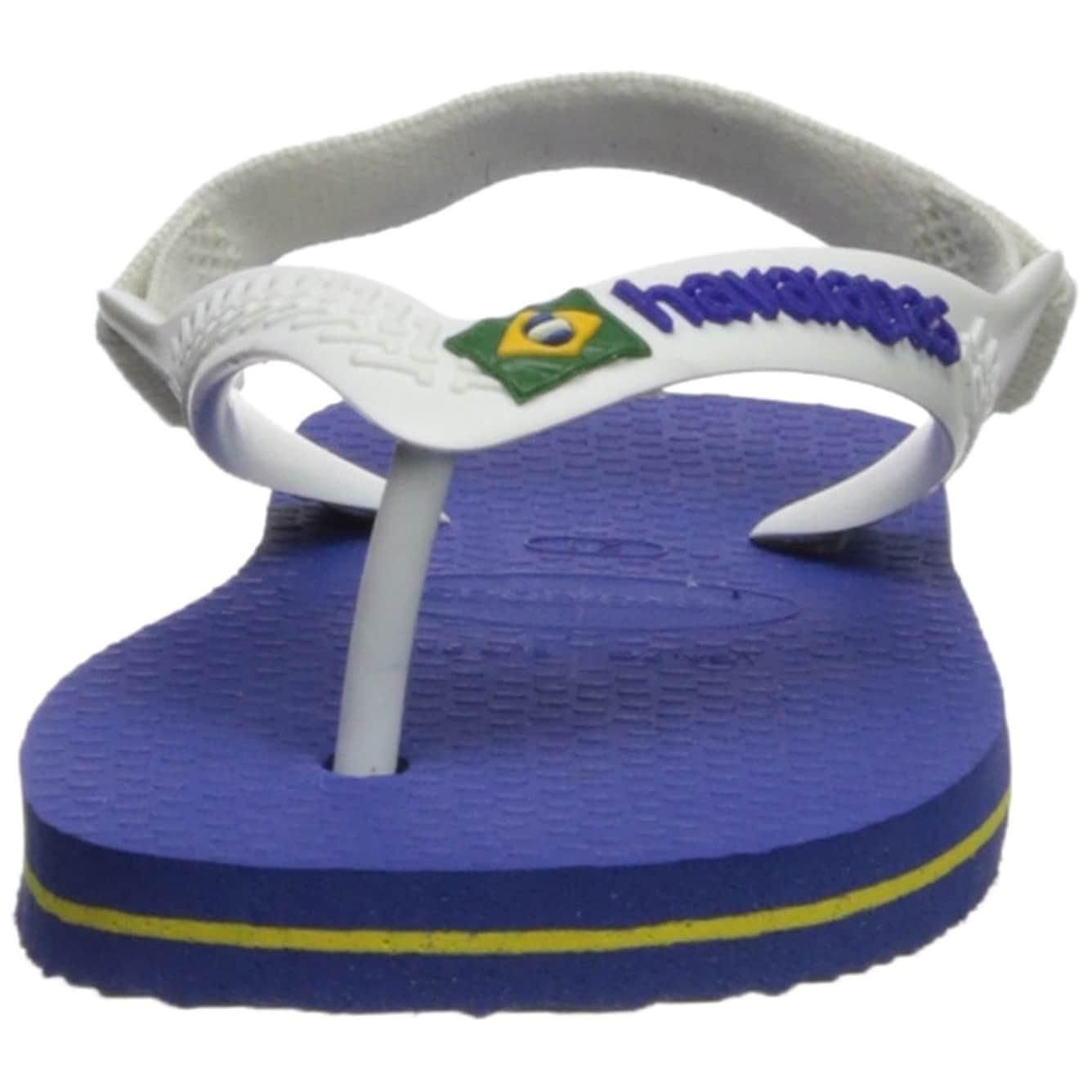 975f68e4fb55e3 Shop Havaianas Kids  Baby Brazil Logo Sandal Marine Blue - On Sale - Free  Shipping On Orders Over  45 - Overstock.com - 22133157