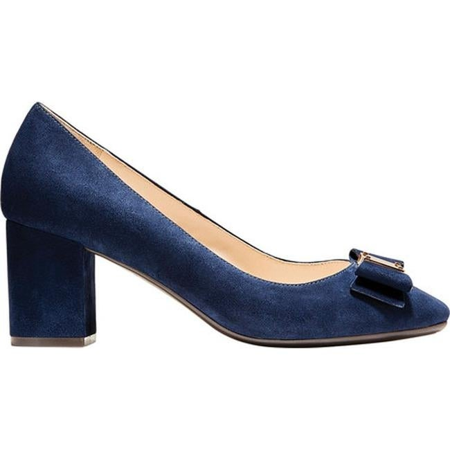 6e12f7467dd8 Shop Cole Haan Women s Tali Bow Pump Marine Blue Suede - Free Shipping  Today - Overstock - 24102213