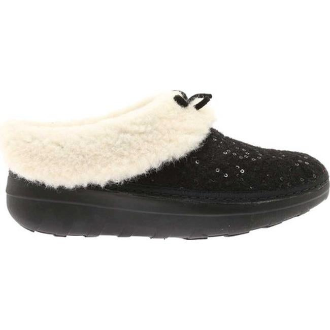 be1f4d8de07f31 Shop FitFlop Women s Loaff Snug Slipper Black Sequin Felted Textile - Free  Shipping On Orders Over  45 - Overstock - 20110503