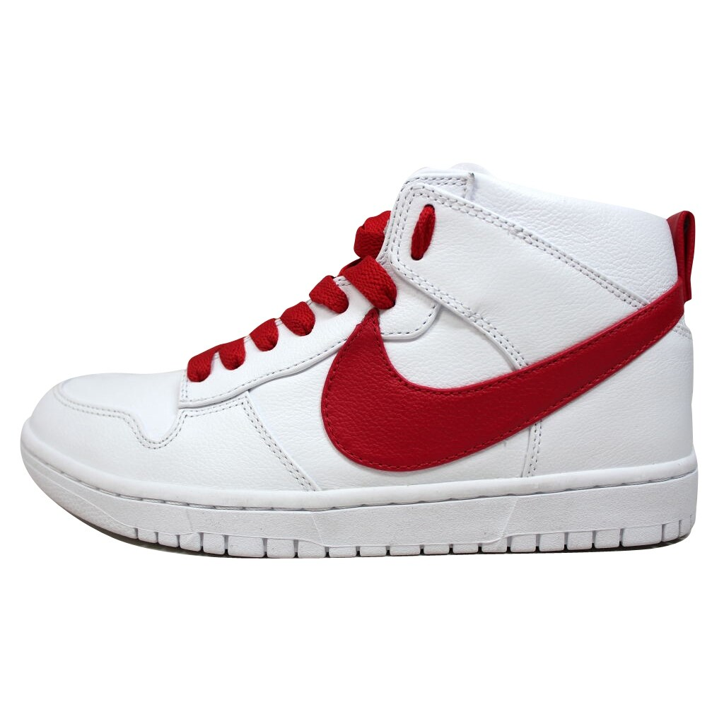 hot sale online ed139 8760b Shop Nike Men s Dunk Lux Chukka RT White Distance Red Riccardo Tisci 910088- 100 - Free Shipping Today - Overstock - 19507859