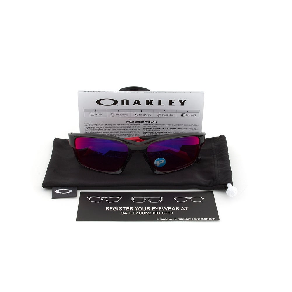 ea937a5851 Shop Oakley OO9252-08 Asian Fit Chainlink Polarized Sunglasses - Free  Shipping Today - Overstock - 19622386