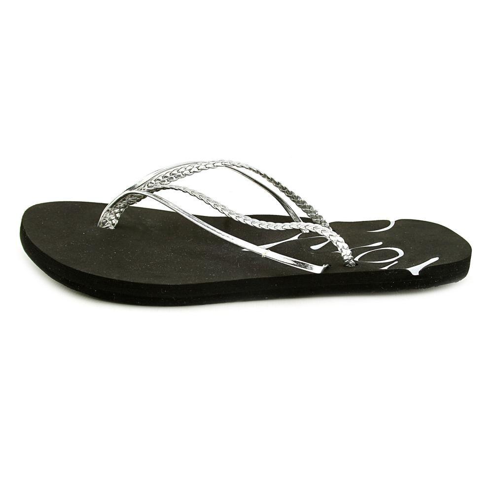 9c1b1dd89 Shop Roxy Rio II Women Open Toe Synthetic Silver Flip Flop Sandal - Ships  To Canada - Overstock.ca - 14819295