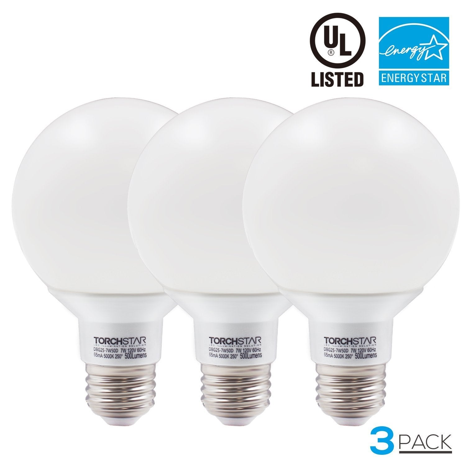 Shop 1/3/6 PACK 7W Dimmable G25 LED Bulb, 2700k Soft White/5000K Daylight - Free Shipping On Orders Over $45 - Overstock - 13888589