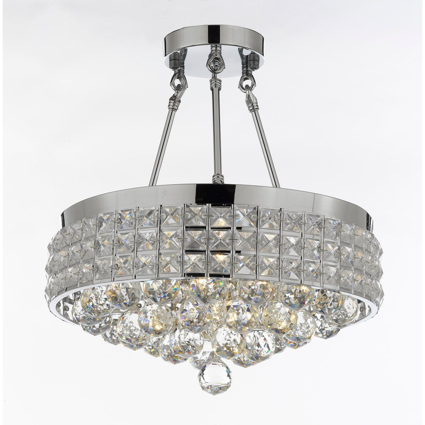 Semi Flush Mount French Empire Crystal Chandelier With 40MM