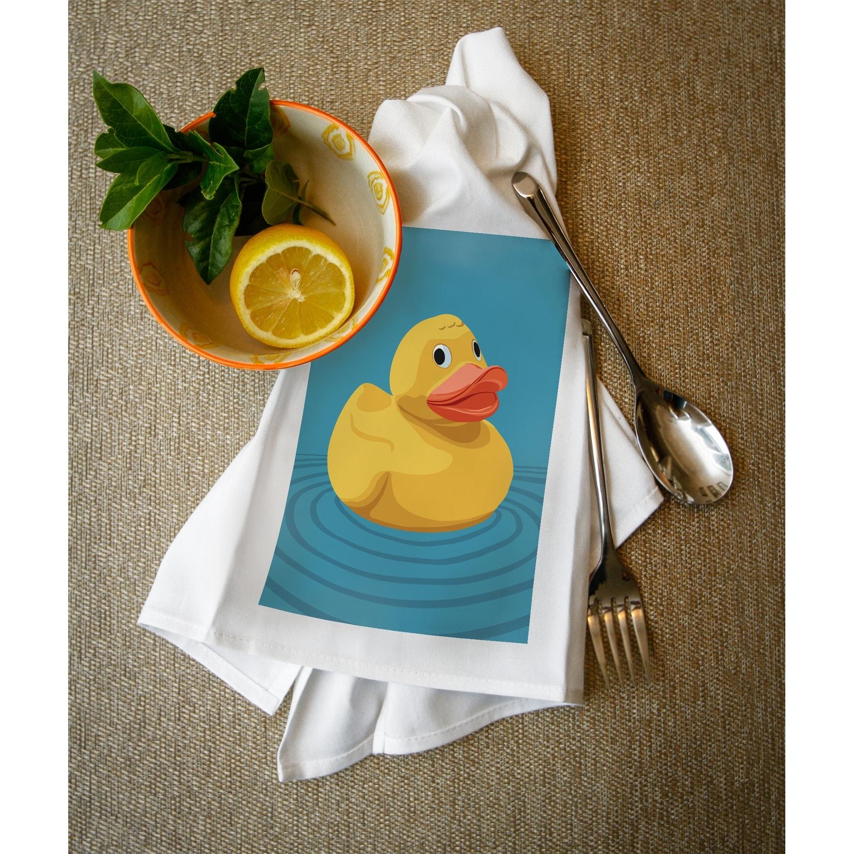 Shop Rubber Duck - Letterpress - LP Artwork (100% Cotton Towel ...