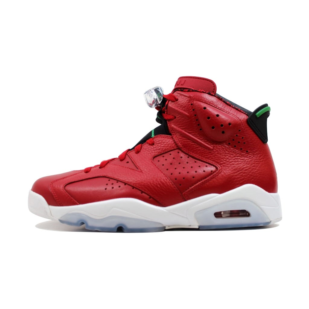 the best attitude f0d4f 0a982 Nike Men s Air Jordan VI 6 Retro Spiz ike Varsity Red Classic  Green-Black-White History Of Jordan 694091-625