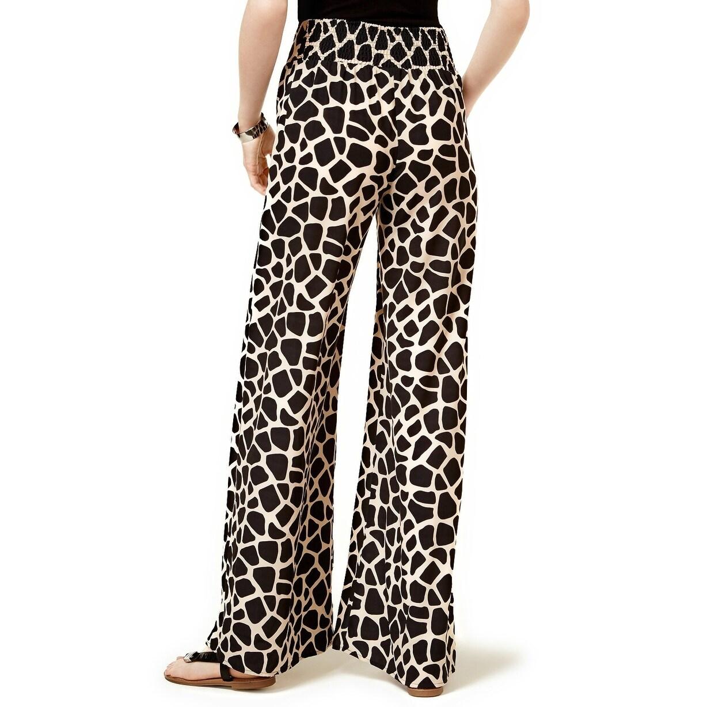 b4449d042fd9d Shop Bar III Giraffe Print Wide Leg Pants - XL - Free Shipping On Orders  Over $45 - Overstock - 21355764