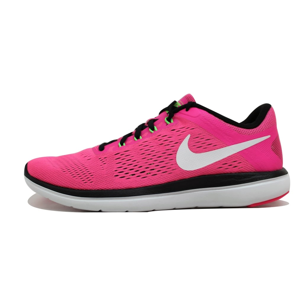 76a219c6d64 Shop Nike Women s Flex 2016 Run Pink Blast White-Black-Electric Green 830751-600  Size 6.5 - Free Shipping On Orders Over  45 - Overstock - 20139468