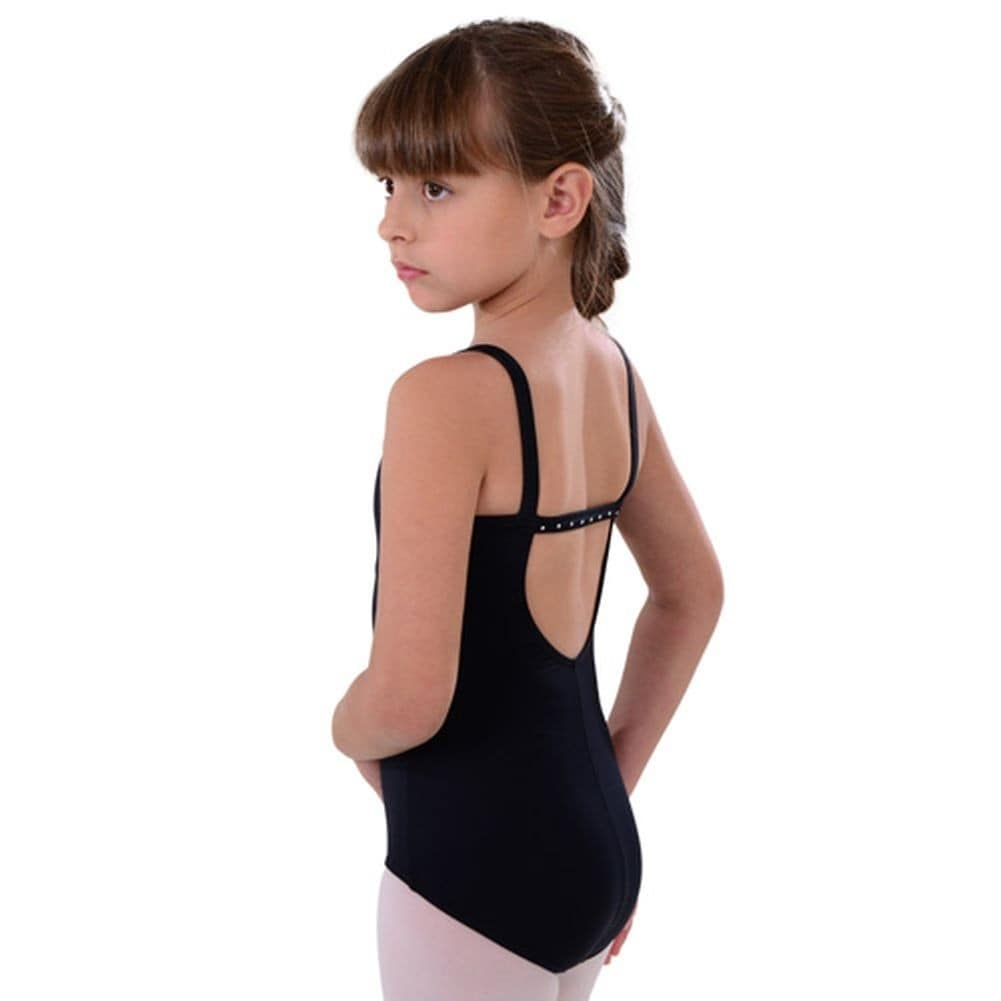 c12df6143 Shop So Danca Black Camisole Rhinestone Dance Leotard Little Girls 2 ...